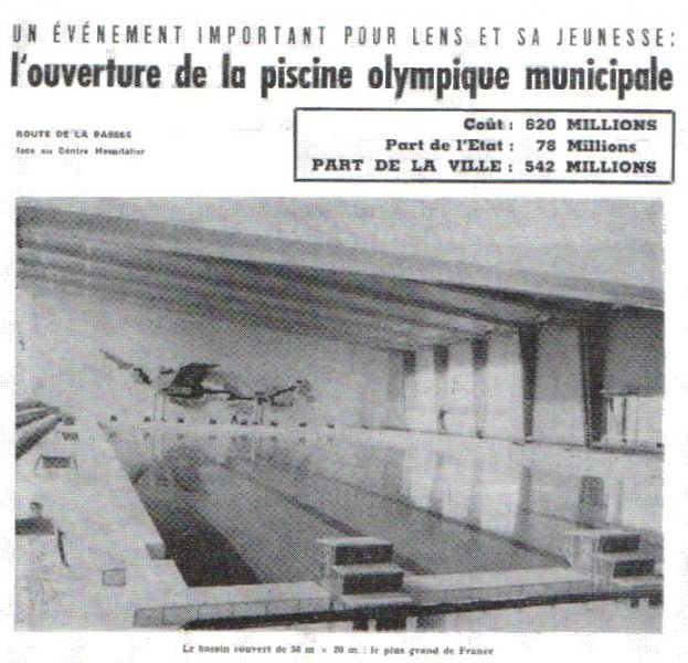 Horaire piscine bethune id es de for Construction piscine olympique aubervilliers